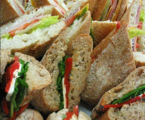 Vancouver Richmond catering sandwiches wraps lunch coffee