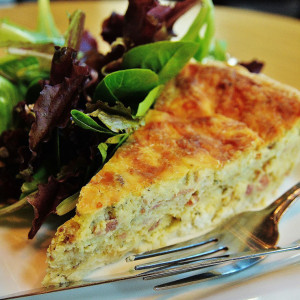 Quiche with Salad - Trees Organic