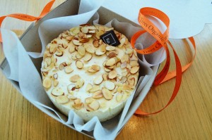 Almond Marzipan Cheesecake by Trees Organic