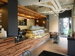 The beautiful interior of our new Trees Organic cafe in Vancouver