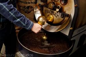 Roasting Coffee at Trees Organic Cafe