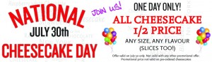 Celebrate National Cheesecake Day July 30