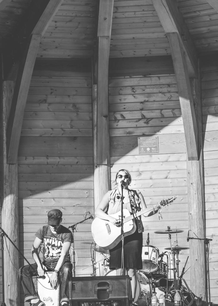 Jodi Doidge performing at Trees Organic