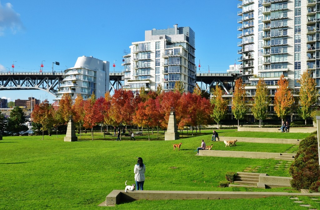 George Wainborn Park next to Trees Organic Coffee Yaletown Vancouver