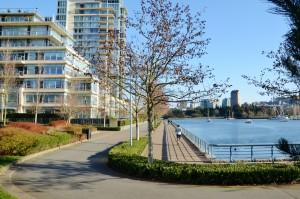 George Wainborn Park next to Trees Organic Coffee Yaletown Vancouver