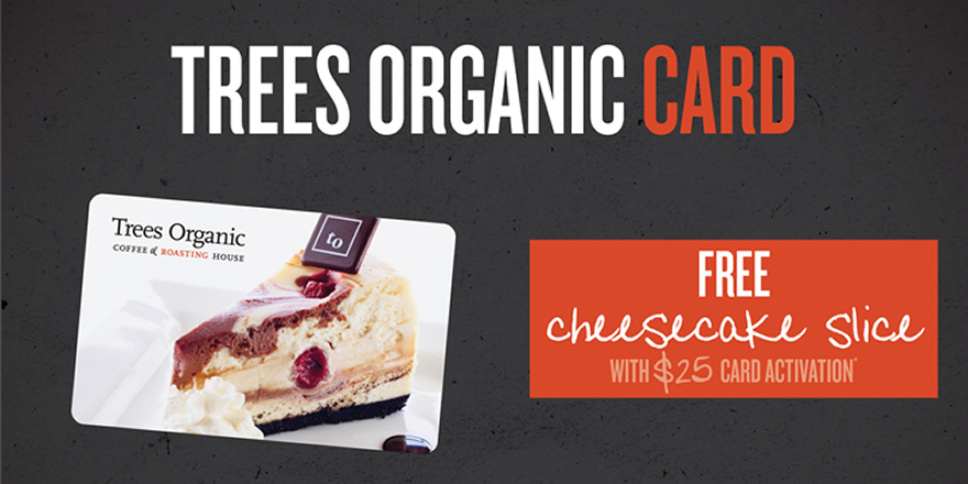 Trees Organic Gift Card special fo