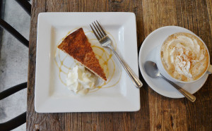 Pumpkin Spice Cheesecake and Latte - Trees Organic