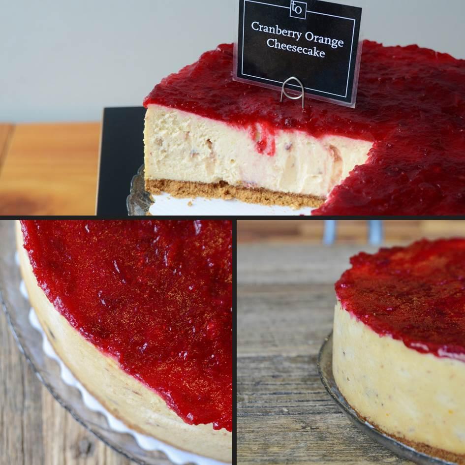 Cranberry Orange Cheesecake by Trees Organic
