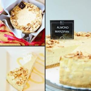 Almond Marzipan Cheesecake - Trees Organic Coffee & Roasting House