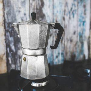 Stovetop Moka Pot Coffee Brewing
