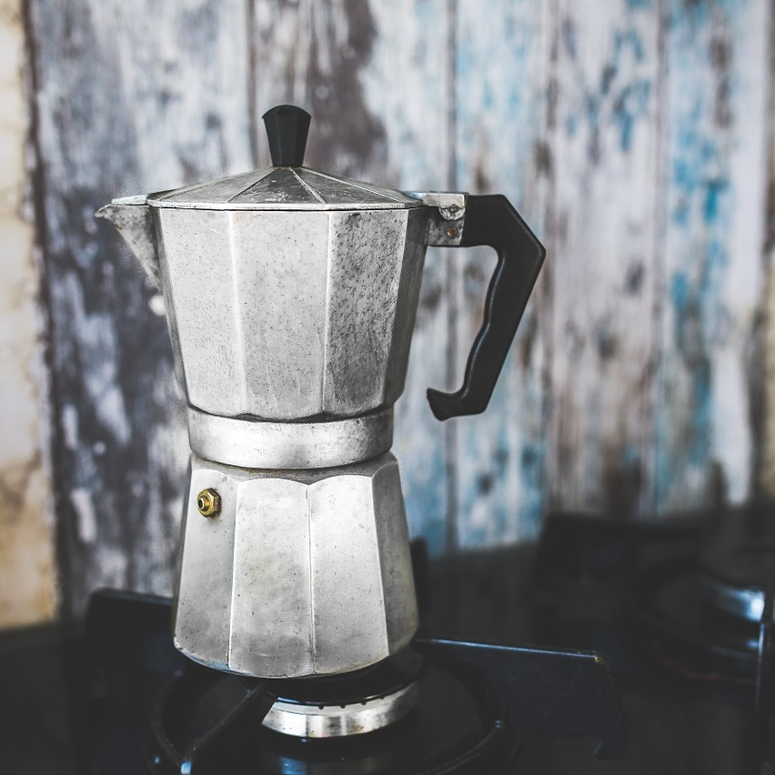Stovetop Moka Pot Coffee Brewing