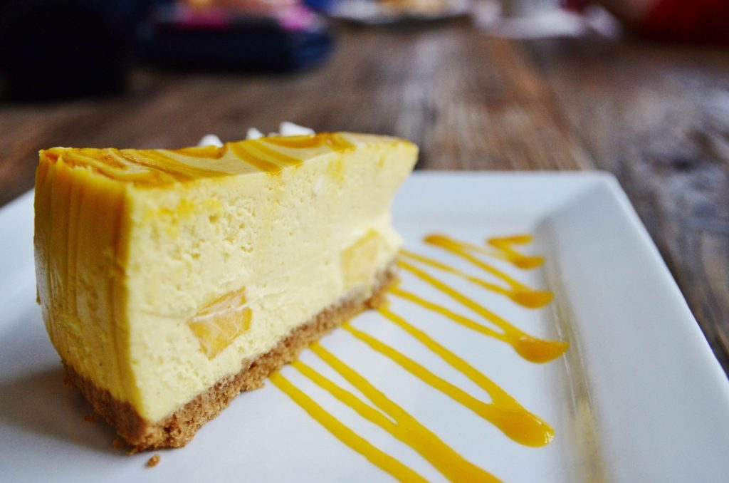 Mango Splash Cheesecake - Trees Organic Coffee and Roasting House