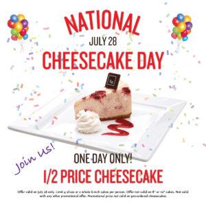 National Cheesecake Day 2016