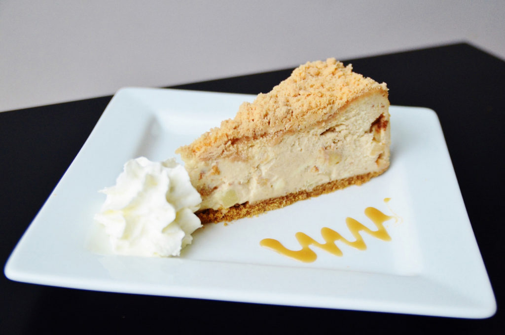 Apple Crumble Cheesecake by Trees Organic Coffee & Roasting House
