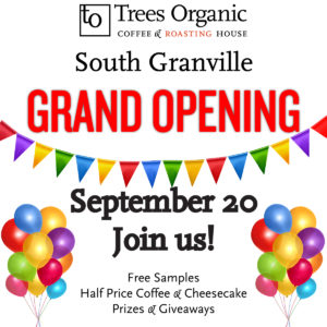 Trees Coffee South Granville Grand Opening Sept 20 2016