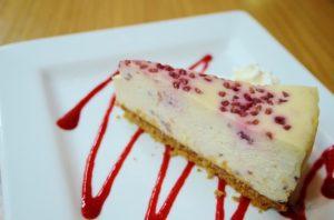 Raspberry White Chocolate Cheesecake by Trees Organic Coffee