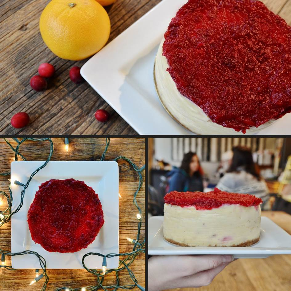 Cranberry Orange Cheesecake by Trees Organic Coffee