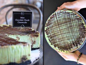 Mint Chocolate Chunk Cheesecake