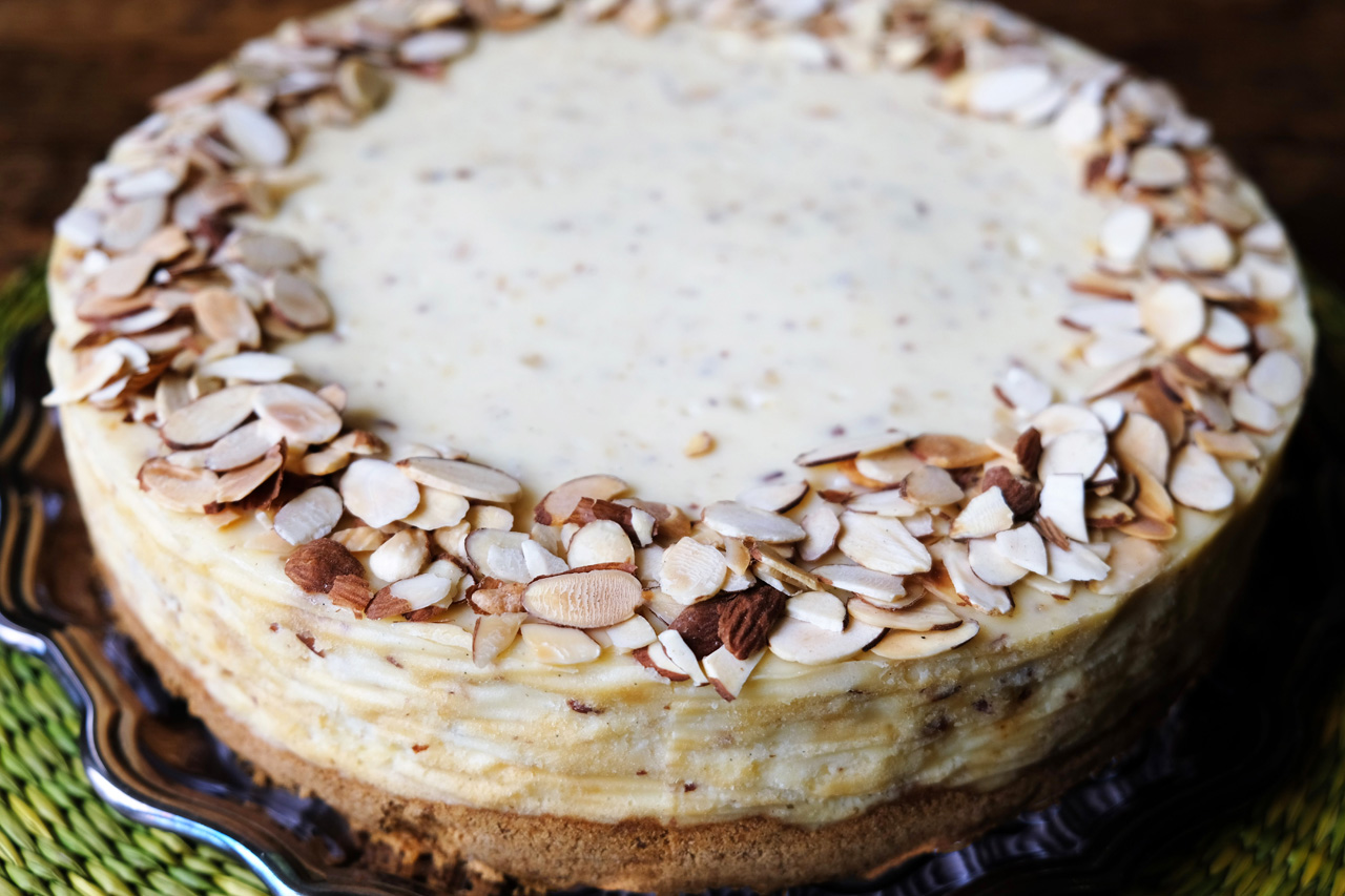 Almond Marizpan Cheesecake
