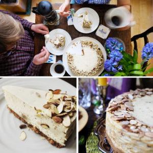 Almond Marzipan Cheesecake