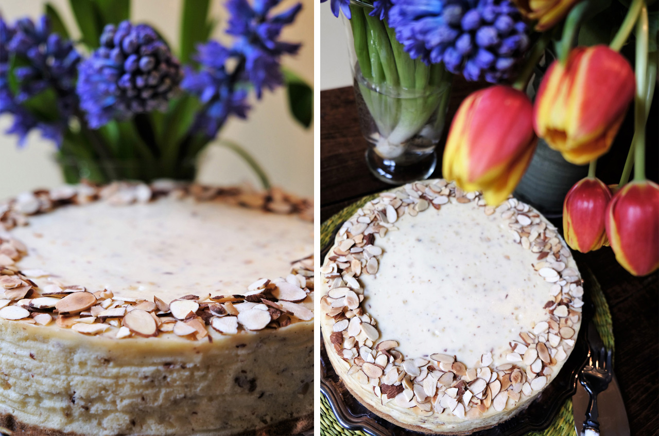 Almond Marzipan Cheesecake
