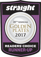 2017 Golden Plates Reader's Choice Award Winner