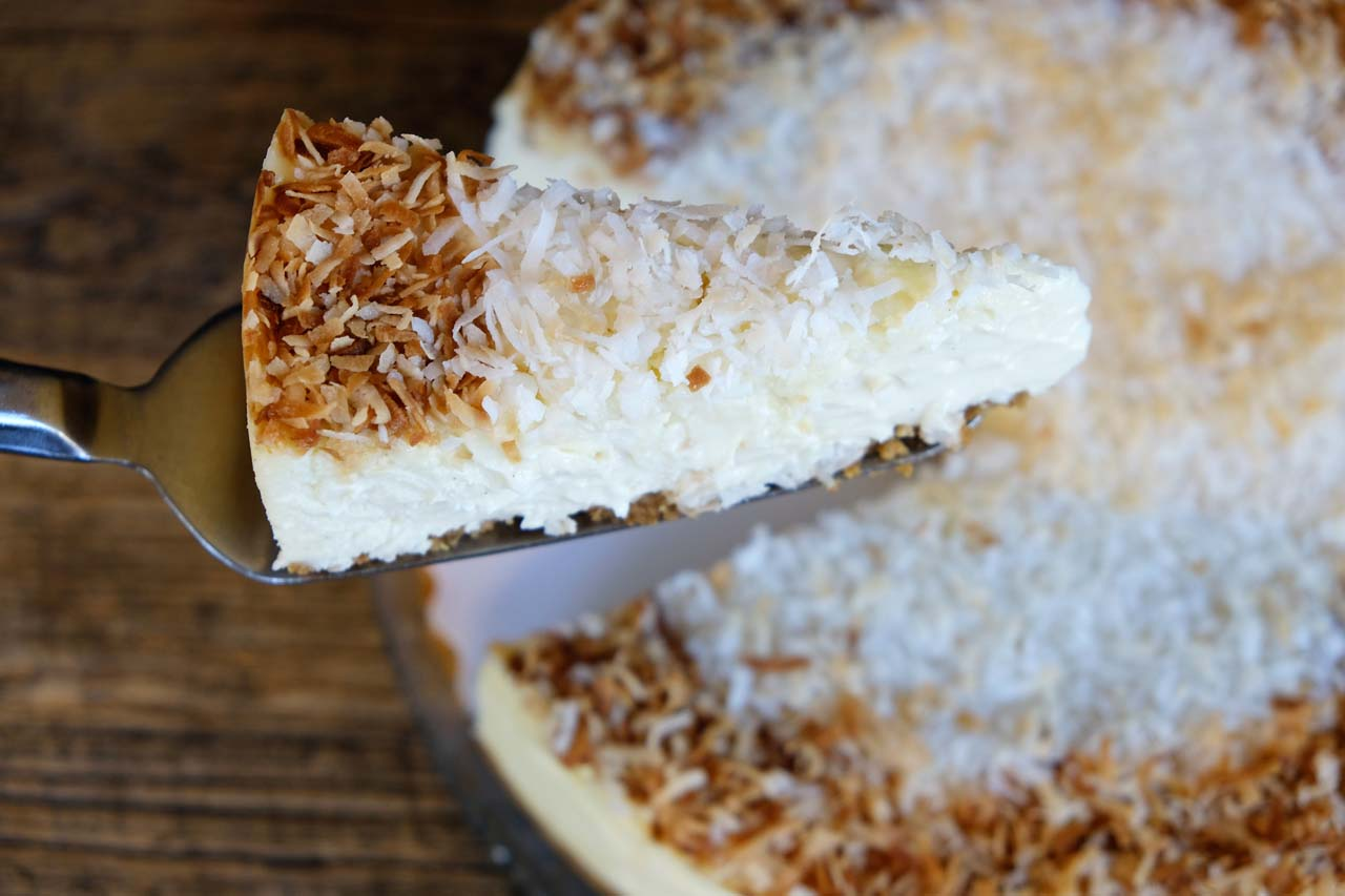 Coconut Dream Cheesecake - Trees Organic Coffee