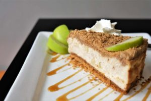 Apple Crumble Cheesecake by Trees Organic Coffee