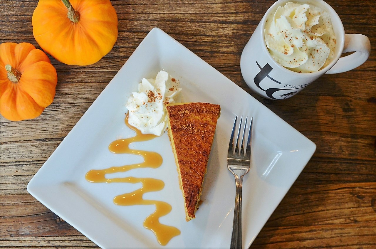 Pumpkin Spice Cheesecake and Latte