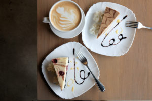 Mocha and The Sin Cheesecakes by Trees Organic Coffee