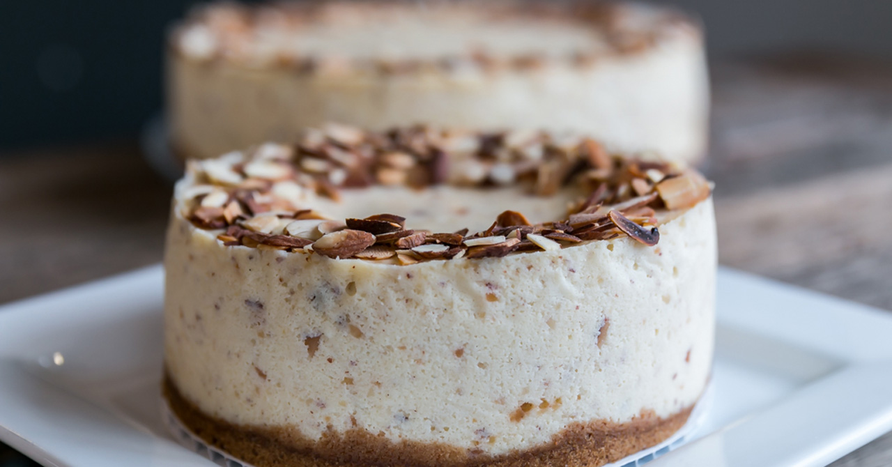 Almond Marzipan Cheesecake by Trees Organic Coffee