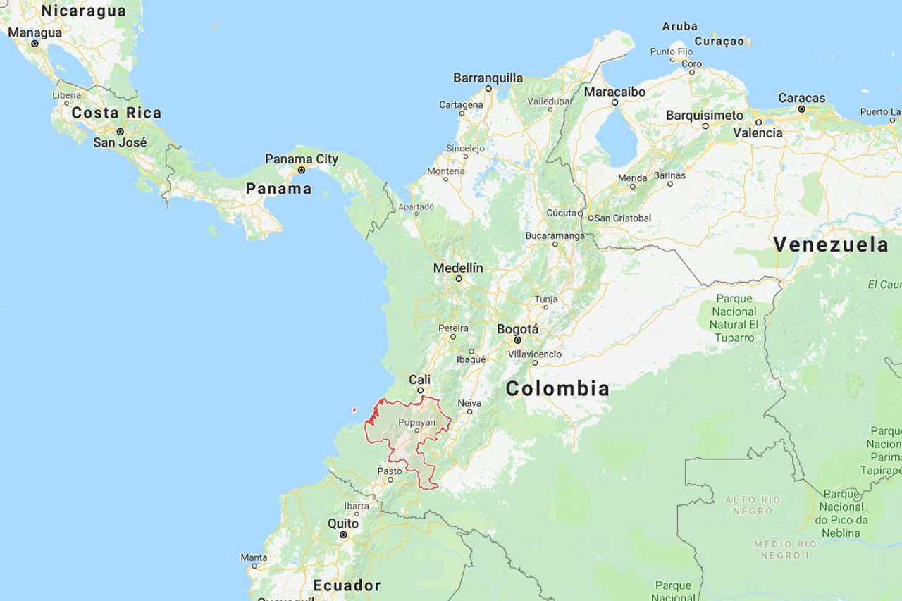 Cauca Region in Colombia - Google Maps