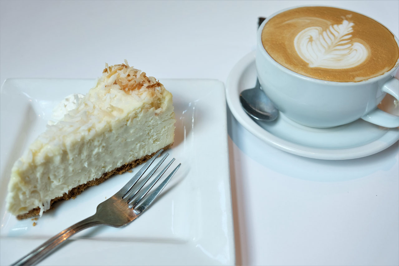 Coconut Dream Cheesecake by Trees Organic Coffee