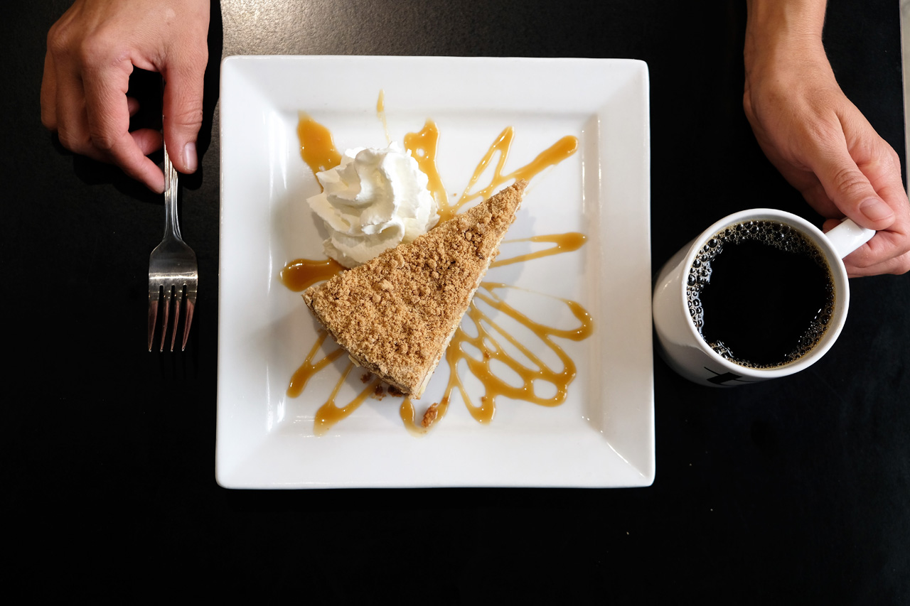 Apple Crumble Cheesecake by Trees Organic Coffee